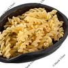 scoop of fusilli pasta