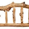 rustic log pine rail