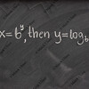 logarithm definition on a school blackboard