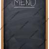 blackboard used as menu