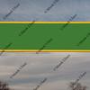 bright green with yellow framing, blank billboard