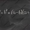 simple mathematical formula on a blackboard