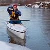 winter canoe - break for hot tea