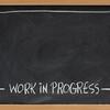 work in progress on blackboard
