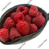 scoop of fresh red raspberries