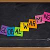 global warming concept on blackboard