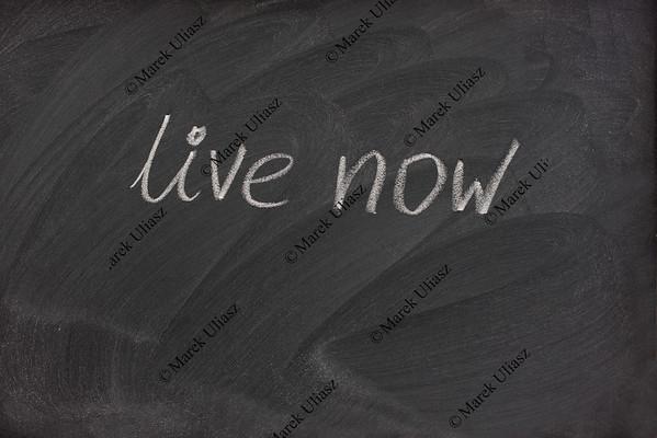 live now phrase on blackboard