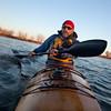 paddling workout in a sea kayak