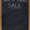 back to schook sale blackboard sign