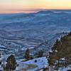 winter dusk at Colorado Rocky Mountains