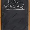 lunch specials on blackboard in vertical