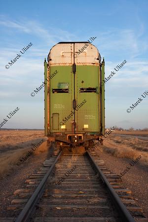 old stock rail car for livestock transportation