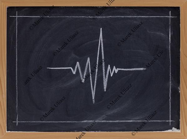 signal graph on blackboard