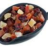 scoop of dried cranberries, papaya and pineapple fruit