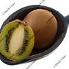 scoop of kiwi fruits