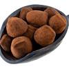 scoop of chocolate truffles
