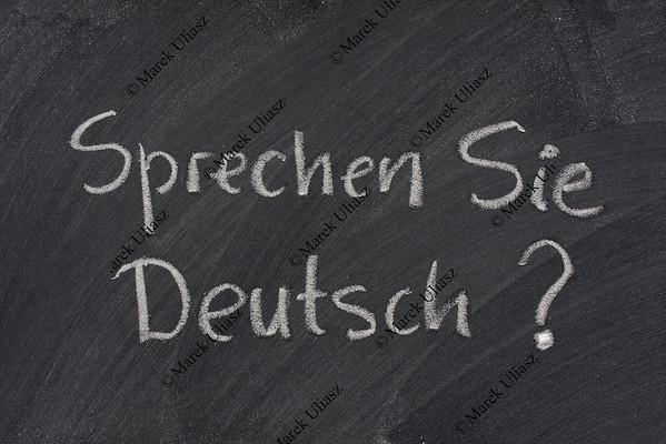 Do you speak German question on a blackboard