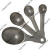 Set of aluminum measuring spoons