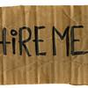 hire me - cardboard sign