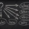simple brainstorming mind map on a blackboard