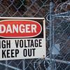 danger, high voltage, keep out sign