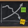 success and failure concept on blackboard
