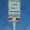 compact car only, parking, towing sign