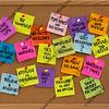 motivational reminders on bulletin board