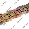 discount in letterpress type