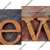 news in vintage letterpress type