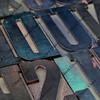 vintage wood letterpress type blocks