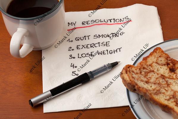 my resolution - napkin concept