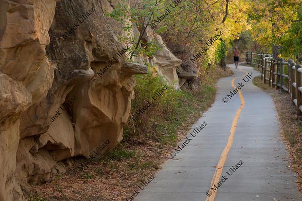 bike and walking trail