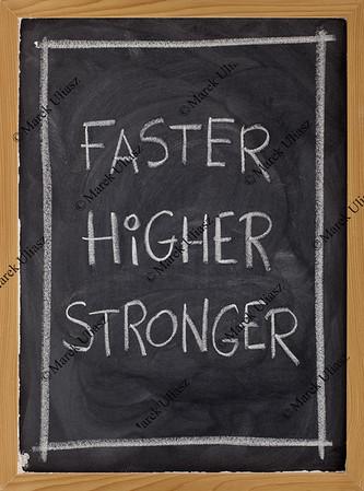 faster, higher, stronger on blackboard