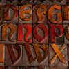 antique letterpress alphabet
