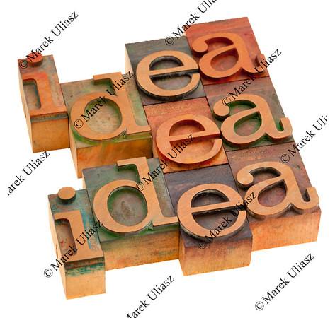 idea concept in printing blocks