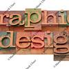 graphic design in letterpress type