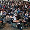 crowd of scientists at coffee break