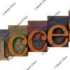 success concept - letterpress wooden type