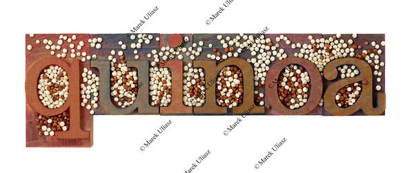 quinoa word and grain