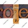 project - vintage letterpress type blocks