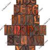 English alphabet abstract - antique type