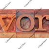 divorce word in letterpress type