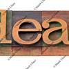 deal - word in letterpress type