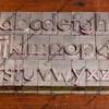 alphabet in metal printing blocks