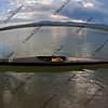 racing kayak on lake