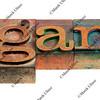 organic in letterpress type