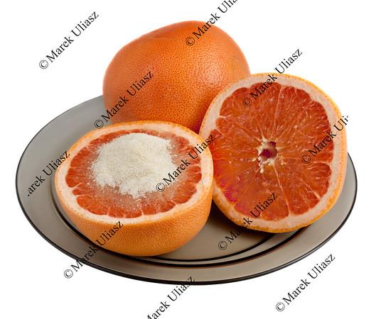 grapefruit served with sugar