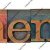 menu in wooden letterpress type