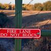 fire lane - do not block